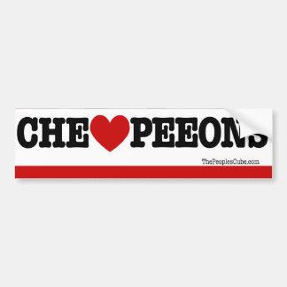 Che Guevara - Che Heart PeeOns: Bumpersticker Bumper Sticker