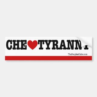 Che Guevara - Che Heart Tyranny: Bumpersticker Bumper Sticker