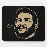 Che Guevara con el retrato Mousepad del cigarro Alfombrillas De Raton