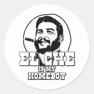 Che Guevara es mi Homeboy Pegatina Redonda