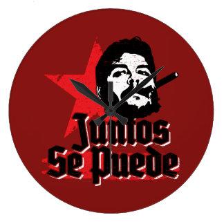 Che Guevara Juntos Se Puede Large Clock