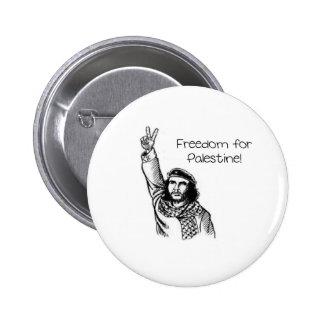 ¡Che Guevara, libertad para Palestina! Pin Redondo De 2 Pulgadas