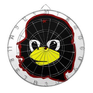che guevara linux tux penguin dartboard with darts