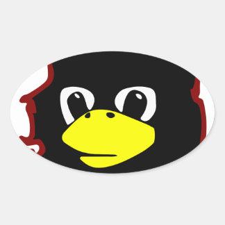 che guevara linux tux penguin oval sticker