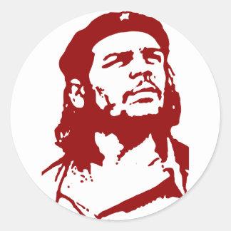 Che Guevara. Pegatina Redonda