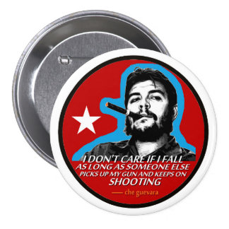 Che Guevara Pin Redondo De 3 Pulgadas