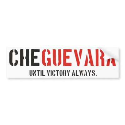 Che Guevara Products & Designs! bumper stickers $ 4.50
