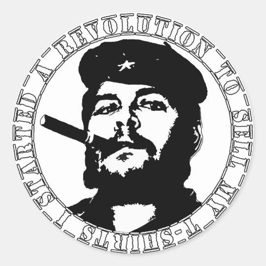 Che guevara t-shirt classic round sticker