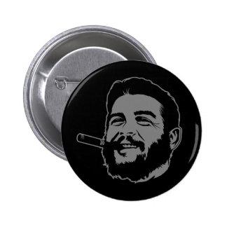 Che Guevara with Cigar Portrait Button