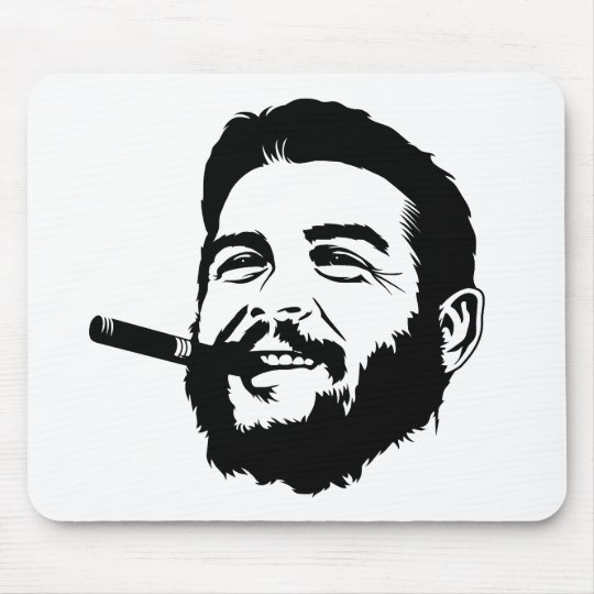 Che Guevara with Cigar Portrait Mousepad