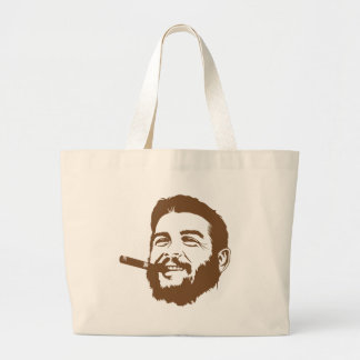 Che Guevara with Cigar Portrait Tote Bag