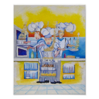 Che if at work Oil painting Print
