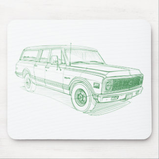 Che Suburban 1972 Mouse Pad