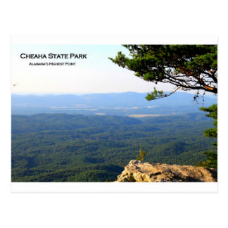 CHEAHA STATE PARK - ALABAMA'S HIGHEST POINT POSTCARD