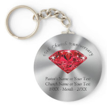 Cheap 40th Church Anniversary Favors or YOUR YEAR Keychain