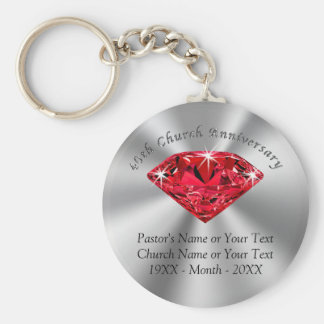 40th Church Anniversary Favors Or Your Year Keychain