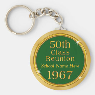 Cheap 50th Class Reunion Keychains, School Name Keychain