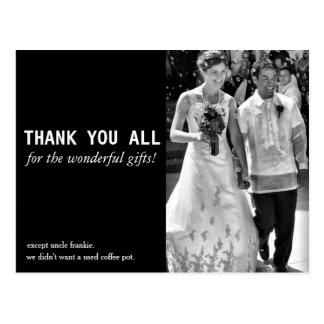 Cheap and Funny Wedding Thank You Card