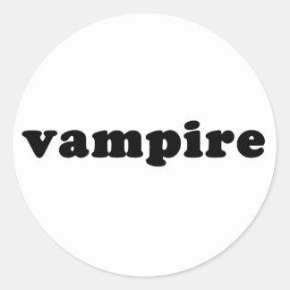 Cheap and Generic VAMPIRE T shirts Classic Round Sticker