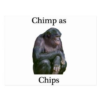 Cheap as chimps postcard