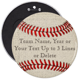 CHEAP Baseball Party Gifts Pins with YOUR TEXT