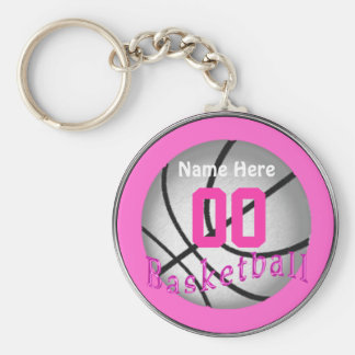 Cheap Basketball Gifts for Girls Team Basic Round Button Keychain