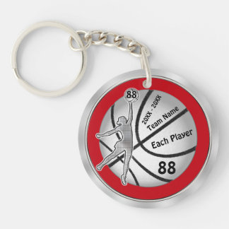 Cheap Basketball Gifts, Number, Years, Names Double-Sided Round Acrylic Keychain