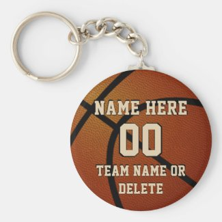 Cheap Basketball Keychains Personalized, 3 Text
