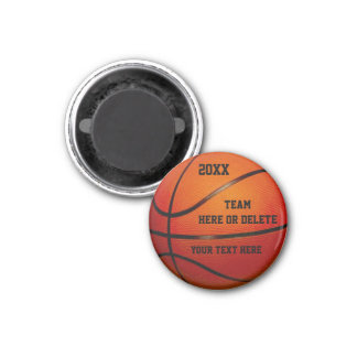 Cheap Basketball Party Favors PERSONALIZED Magnet