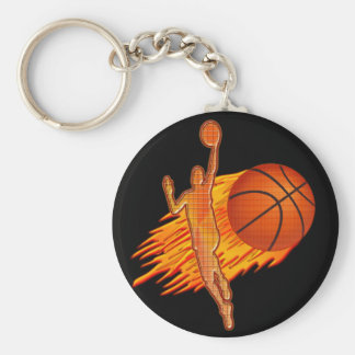 CHEAP Basketball TEAM Gifts Flaming Basketball Keychain