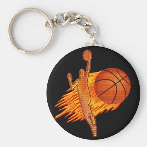 CHEAP Basketball TEAM Gifts Flaming Basketball Keychain