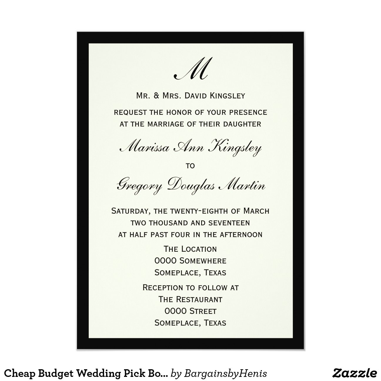 Clearance Wedding Invitations is one of our best ideas you might choose for invitation design