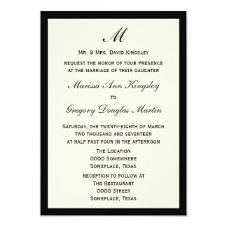 Cheap Budget Wedding Pick Border Color 5x7 Paper Invitation Card