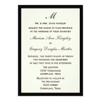 Cheap Budget Wedding Pick Border Color Card