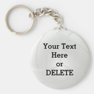 Cheap Bulk Volleyball Gifts YOUR TEXT or DELETE IT Keychain