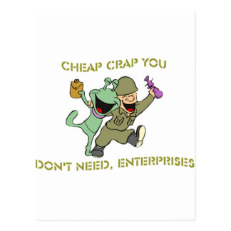 Cheap Crap You Don't Need, Enterprises Merchandise Postcard