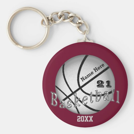 Cheap Custom Basketball Senior Night Gift Ideas Keychain