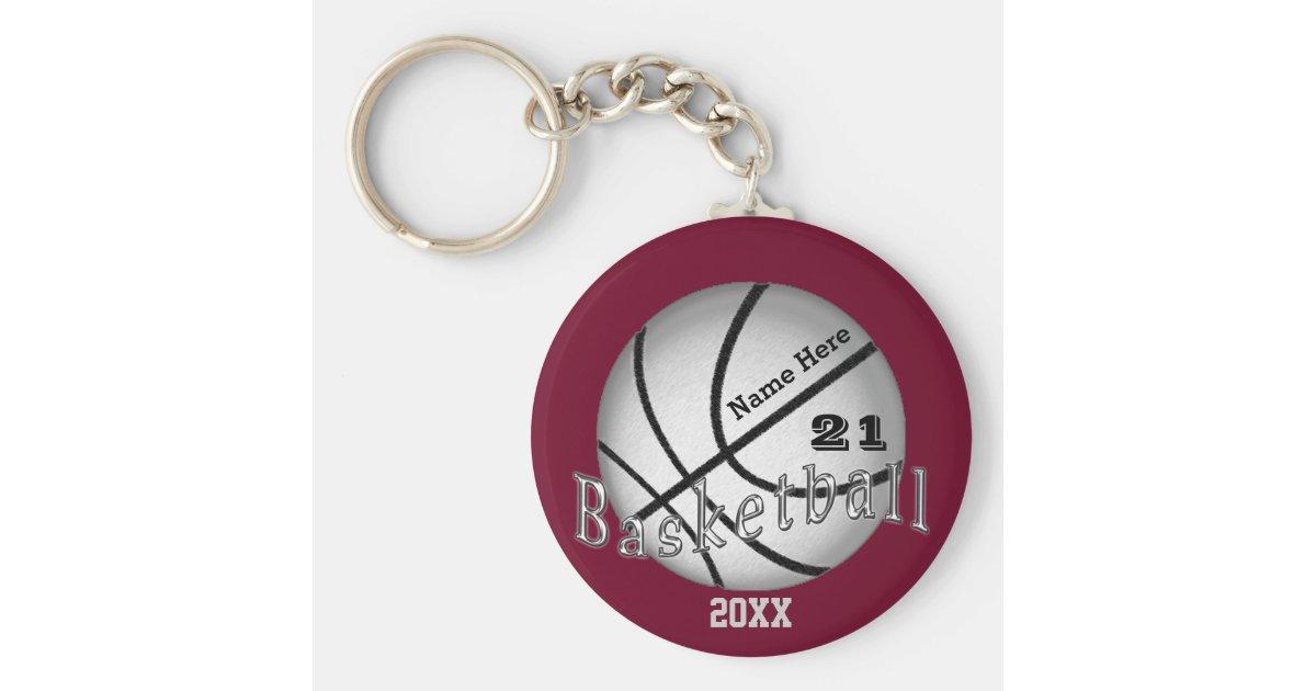 Cheap Custom Basketball Senior Night Gift Ideas Keychain Zazzle Com