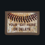 """Cheap Faux Vintage Personalized Baseball Wallet<br><div class=""""desc"""">Cool and Cheap Faux Vintage Personalized Baseball Wallet for Cool Baseball Team Gift Ideas, Baseball Boyfriend, Christmas and super cool baseball team gifts. More styles available. For baseball team gifts with multiple different names, Personalized ONE baseball wallet at a time, ADD it to the CART then Click the Back Arrow...</div>"""