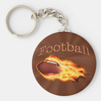 CHEAP Flaming Football Keychains for COACH, TEAM