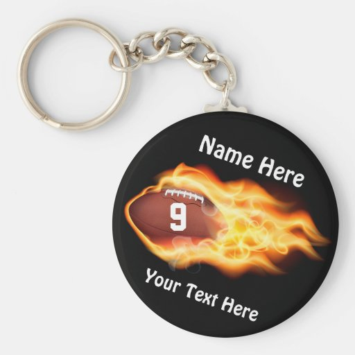 Cheap Football Gifts for TEAM with NUMBER, NAME Key Chain