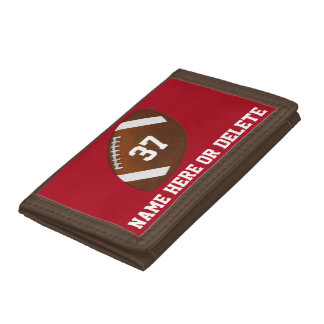 Cheap Football Wallets with NAME, NUMBER, COLORS