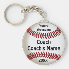 Cheap Gifts For Coaches Custom Baseball Keychains at Zazzle