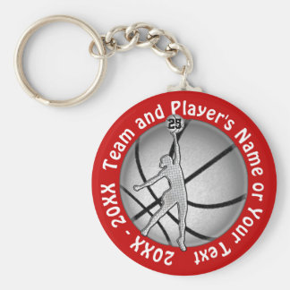 Cheap Girls Basketball Gifts, Your Text and Colors Keychain