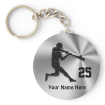 Cheap Ideas for Baseball Team Gifts NAME & NUMBER Keychain