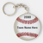 Cheap Ideas for Baseball Team Gifts with TEAM NAME Basic Round Button Keychain