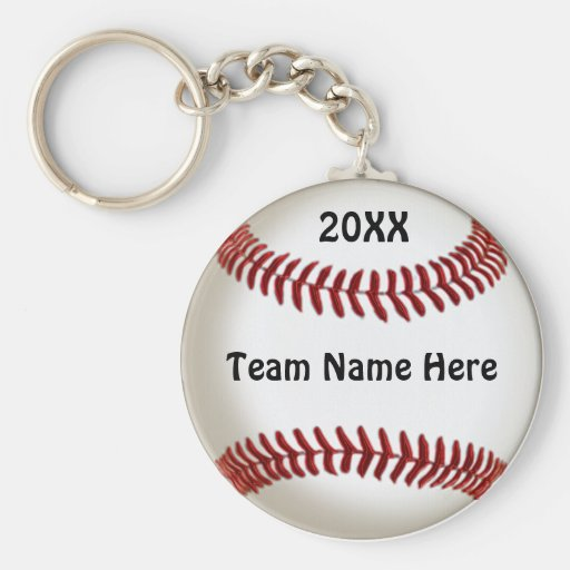 Cheap Ideas for Baseball Team Gifts with TEAM NAME Keychains