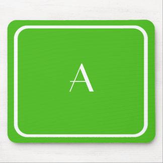 Cheap Kelly Green Mousepad w/ White Monogram