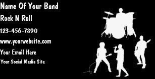cheap musician band business cards - Band Business Cards