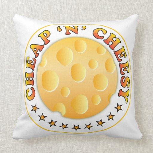 Cheap n Cheesy R Throw Pillow
